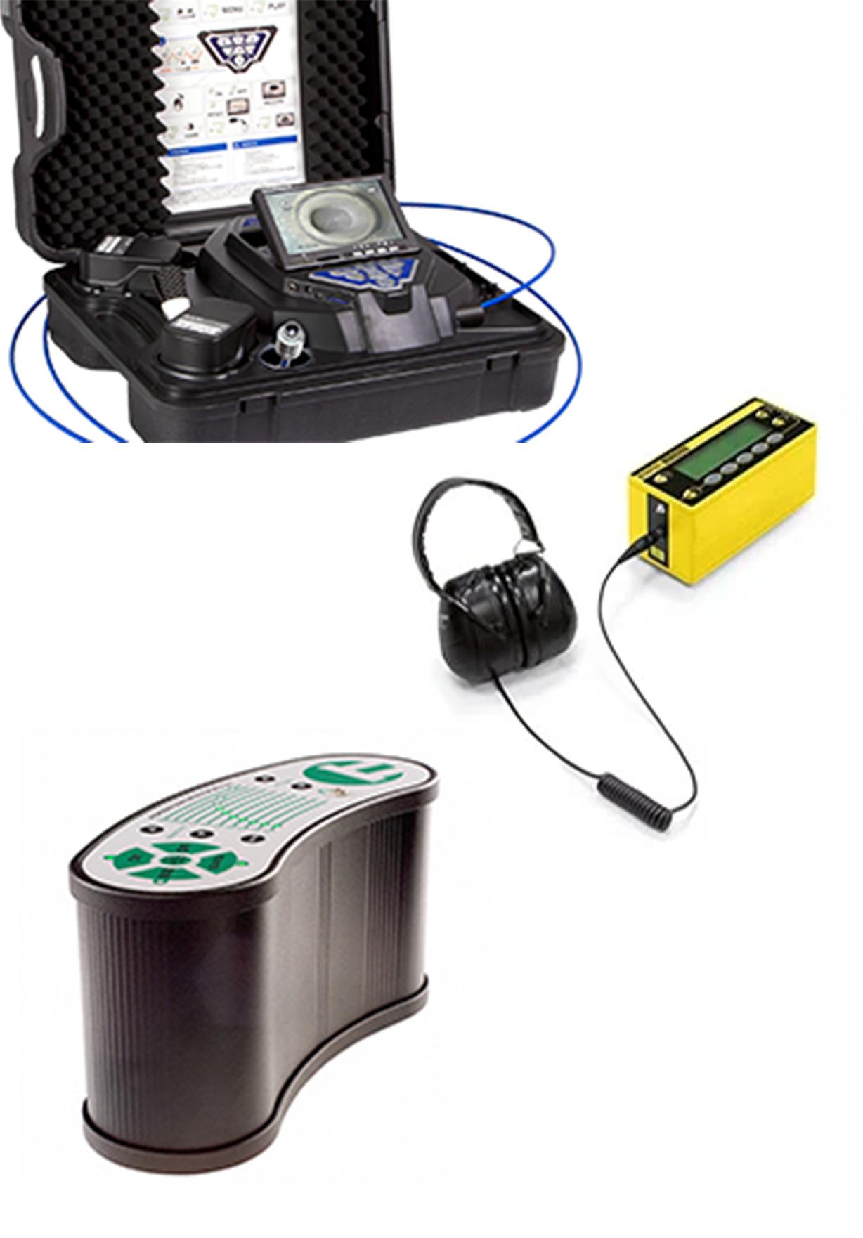 Geräte für Leackageortung weißer Hintergrund