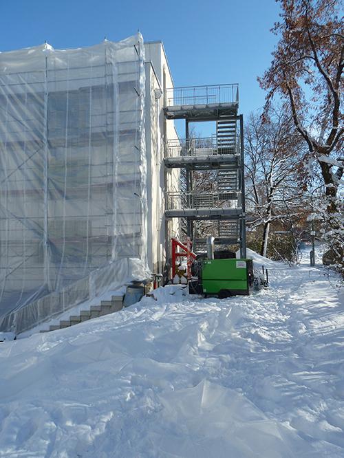 Winterbaubeheizung Schnee Remko