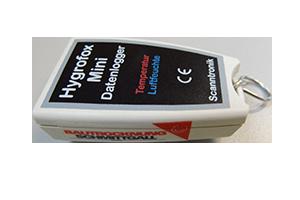 Hygrofox Mini Datenlogger freigestellt